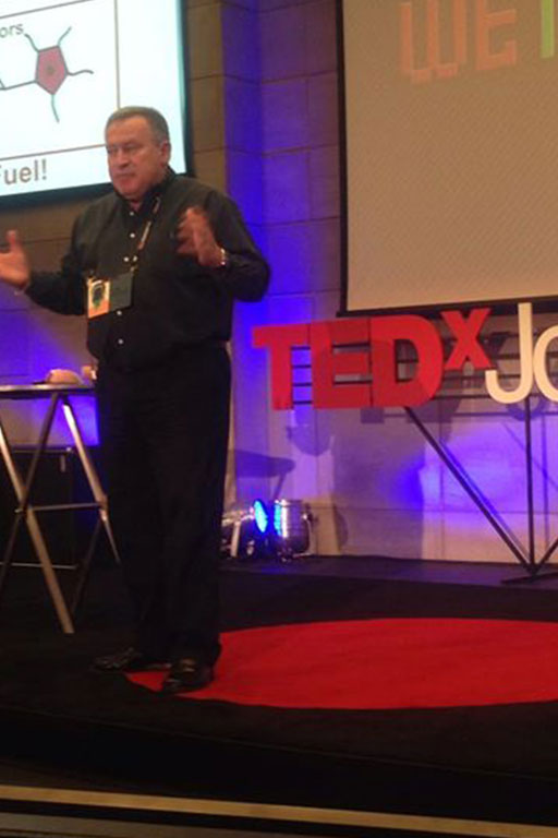 Dr. Andre Vermeulen presenting at TEDx Johannesburg