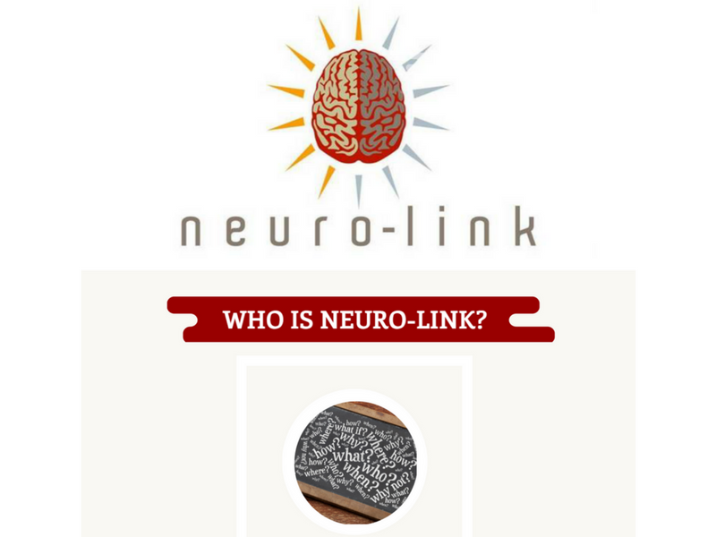 "Neuro-Link branding picture with the caption ""who is Neuro-Link"""